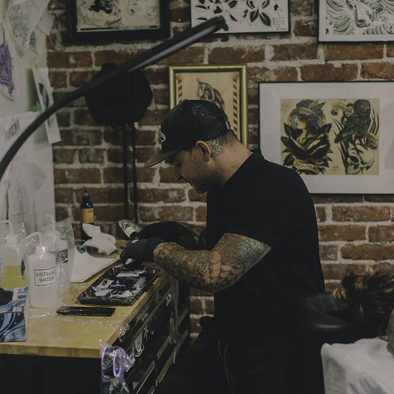 KJ bend tattoo artist